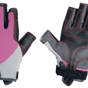 Zeilhandschoen harken spectrum roze