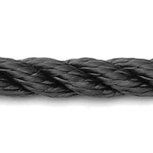 U-rope 3-strengs polyesterlijn zwart meerlijn ankerlijn