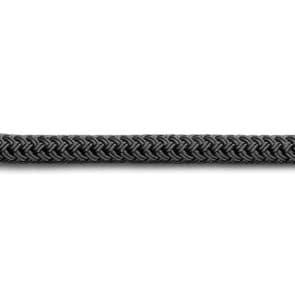Doublebraid polyester val of schoot lijn zwart
